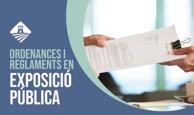 Ordenances i reglaments en fase d'exposició pública