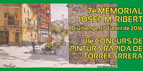 7è Memorial Josep M. Ribert.11è Concurs de pintura ràpida de Torrefarrera.
