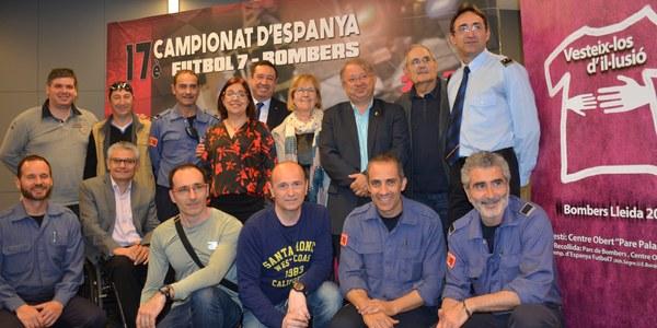 34 equips participen en el 17è Campionat d'Espanya de Futbol 7 per a Bombers que se celebra a Lleida
