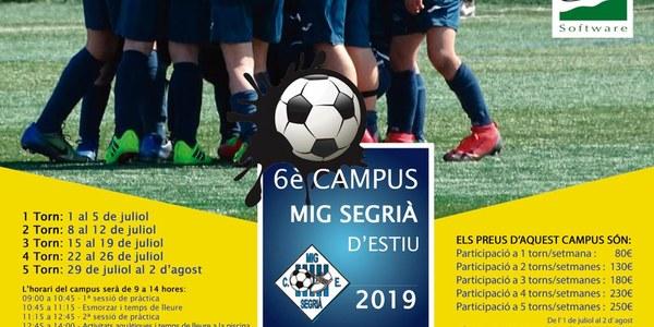 6è Campus Mig Segrià d'estiu 2019
