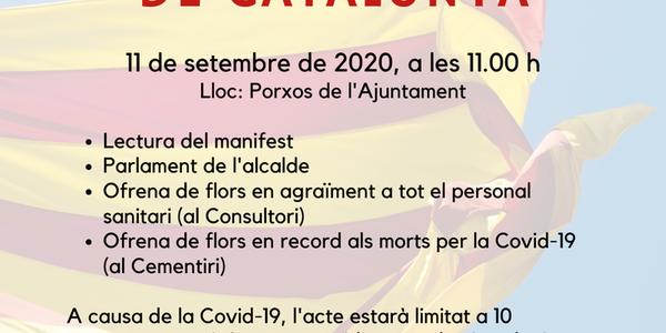 Acte 11 de setembre: Diada Nacional de Catalunya