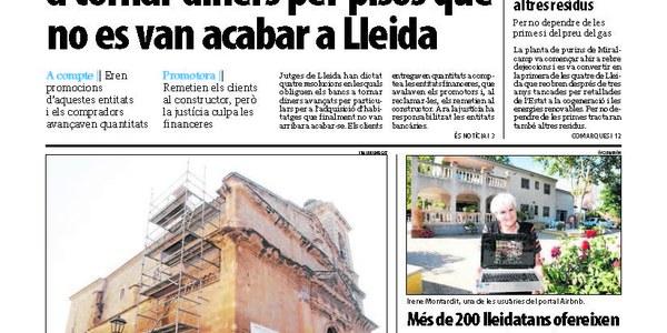 Actuació d'urgència a l'església de Torrefarrera per reparar filtracions