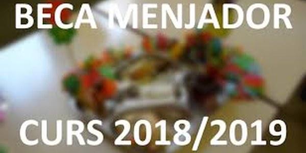 Ajuts individuals menjador escolar 2018-2019