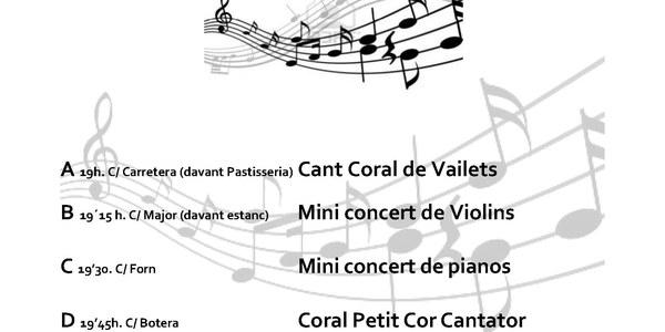 Aquest dissabte, nova edició dels 'Racons musicals' per celebrar el Dia de la Música