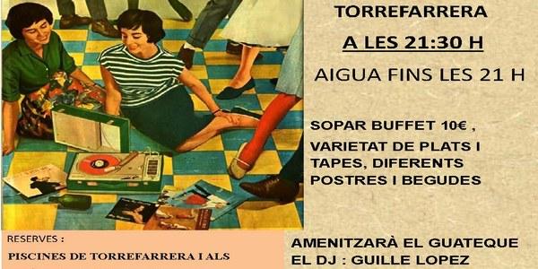 """Aquest divendres a les piscines de Torrefarrera """"Nit del guateque dels 60,70 i 80"""""""