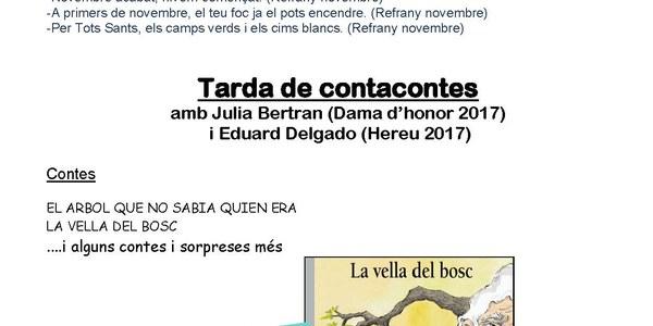 Aquest divendres, Contacontes amb la Júlia Bertran i l'Eduard Delgado, Dama d'honor i Hereu 2017