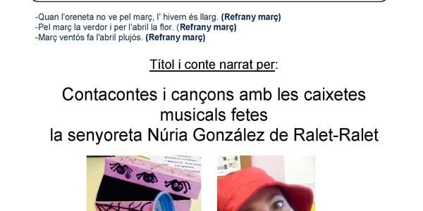 """Aquest divendres """"Contacontes amb Núria Gonzalez"""""""