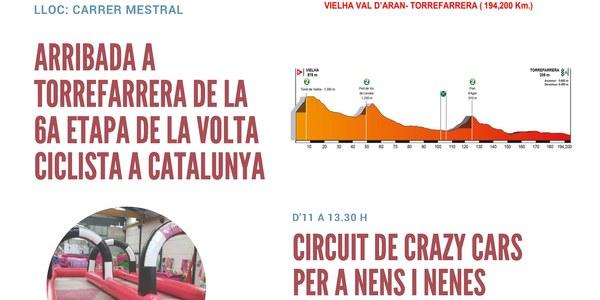 Arribada a Torrefarrera de la 6a. etapa de la Volta Ciclista a Catalunya