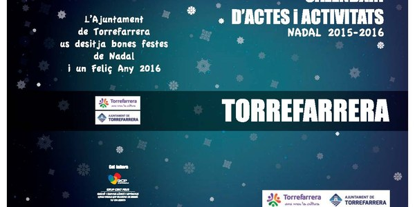 Calendari d'actes i activitats . Nadal 2015-2016