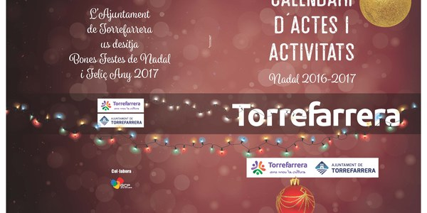 Calendari d'actes i activitats Nadal 2016-2017