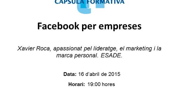 "Capsula Formativa al CeiTorrefarrera ""Facebook per empreses"""