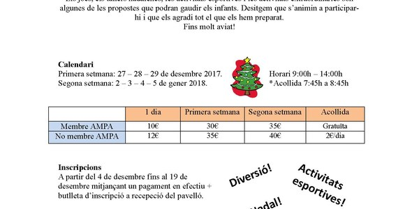 Casal de Nadal 2017-2018