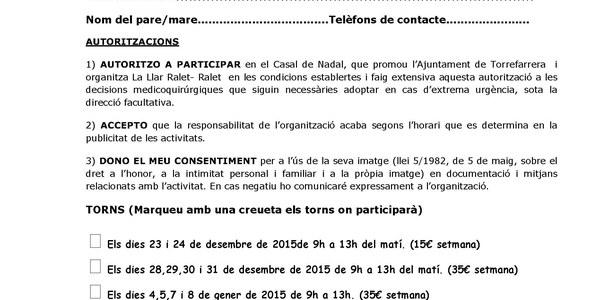 "Casalet de nadal 2015 ""Ralet-Ralet"""