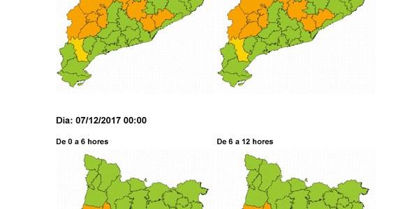 Comunicat d'actualització de la fase d'alerta del procicat per onada de fred