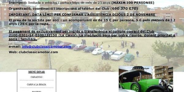 Concentració de cotxes antics a Torrefarrera
