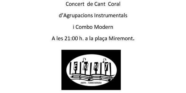 Concert de Cant Coral i agrupacions instrumentals a les Nits d'estiu a Torrefarrera