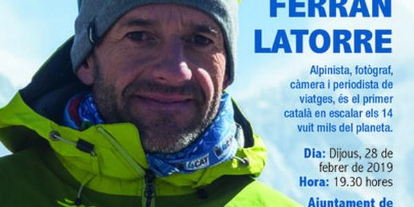 Conferència 'La conquesta dels catorze. Tancant el cercle', a càrrec de l'alpinista Ferran Latorre