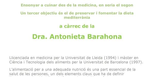 Conferència sobre nutricio a càrrec de la Dra. Antonieta Barahona