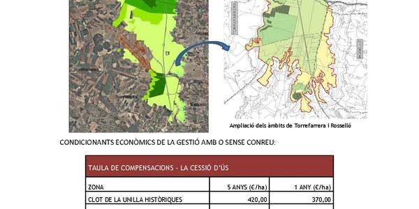 Contractes de cessió d'ús de la gestió de mesures compensatòries de l'aeroport de Lleida-Alguaire