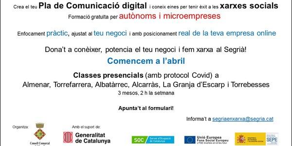 Curs de Comunicació digital i xarxes social per autònoms i microempreses