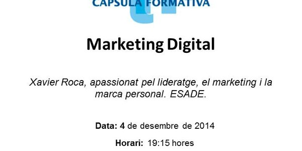 Curs de Marketing Digital, el 4 de desembre al CeiTorrefarrera
