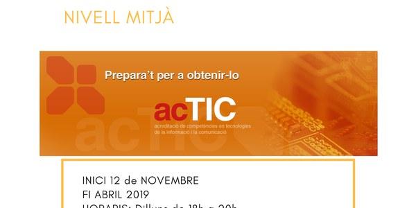 Curs de preparació ACTIC (nivell mitjà)