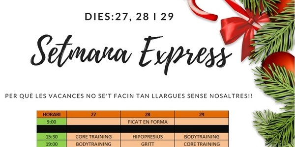 El Complex Esportiu de Torrefarrera obre del 27 al 29 de desembre