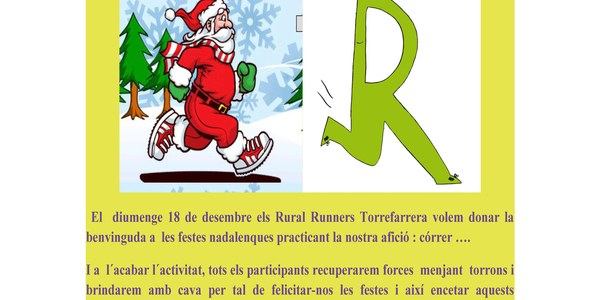 El diumenge 18 de desembre, 5ª edició del CorreNadal