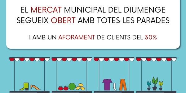 El Mercat de Torrefarrera dels diumenges segueix obert tot i el confinament comarcal
