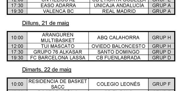 El millor bàsquet del Campionat d'Espanya Cadet Masculí de Clubs arriba aquest diumenge a Torrefarrera