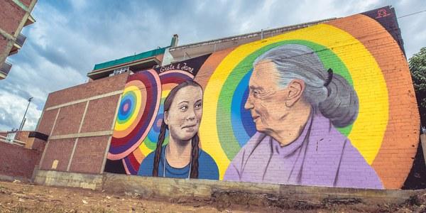 El mural 'Hope' d'Oriol Arumí guanya el premi del públic del 3r Torrefarrera Street Art Festival