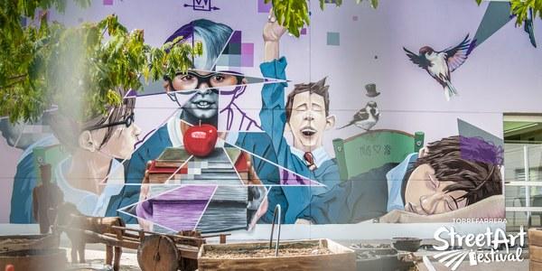 El mural d'Asier & Müs guanya el premi del públic del 2n Torrefarrera Street Art Festival dotat amb 500 euros