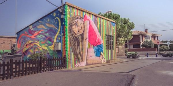 El mural d'Oriol Arumí guanya el premi del públic del Torrefarrera Street Art Festival dotat amb 500 euros