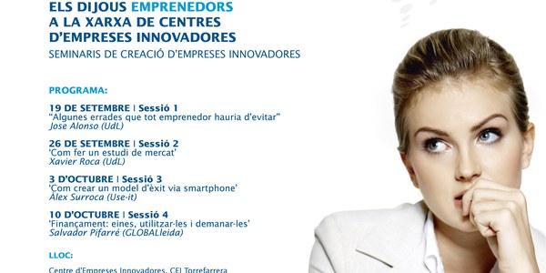 Els dijous EMPRENEDORS a la xarxa de centres d´empreses innovadores