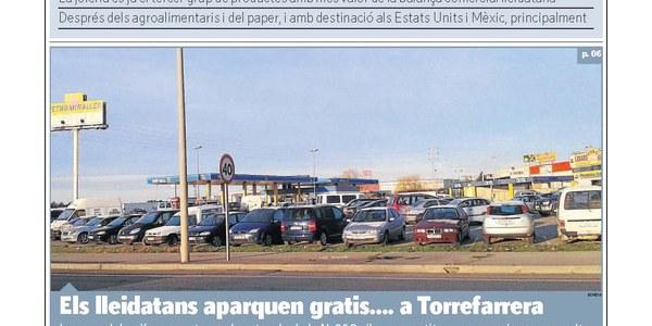 Els Lleidatans aparquen gratis...a Torrefarrera