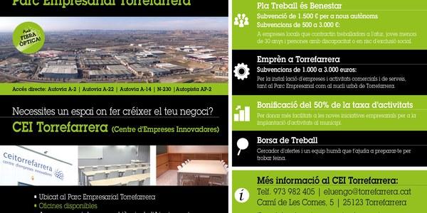 Espais disponibles al CEI Torrefarrera i parcel•les en venda al Parc Empresarial