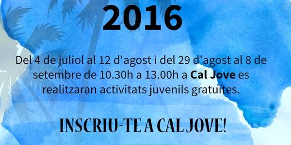 Estiu Jove 2016 Torrefarrera