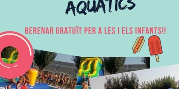 Festa dels infables aquàtics a les Piscines de Torrefarrera