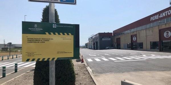 Finalitzen les obres al ferm al Parc Empresarial Torrefarrera