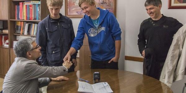 Finalitzen les pràctiques a Torrefarrera els dos estudiants finlandesos del programa Leonardo Da Vinci
