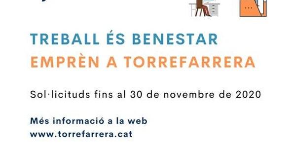 Fins al 30 de novembre es poden sol·licitar els ajuts Treball és Benestar i Emprèn a Torrefarrera 2020