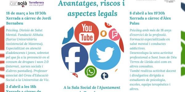 Formació per a famílies, Joves i Xarxes socials: Avantatges, riscos i aspectes legals