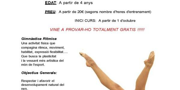 Gimnàstica Rítmica. Club Patricia