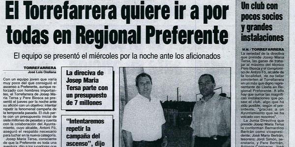 """Homenatge a la """"Història de l'esport a Torrefarrera"""""""