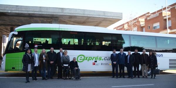Inauguraren a Torrefarrera la nova línia de bus exprés.cat que uneix Lleida amb Alfarràs