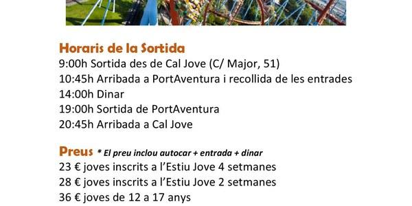 Inscripcions obertes per a la sortida a PortAventura que organitza Cal Jove el 29 de juliol