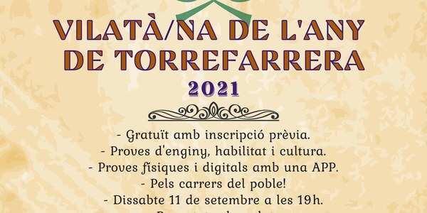Inscripcions per al joc Vilatà/na de l'any de Torrefarrera