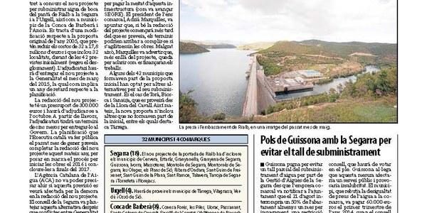 Inundacións a Torrefarrera i Malpartit causades per l'aeroport d'Alguaire