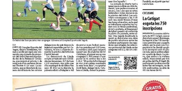 Jornada de futbol femení a Torrefarrera amb cent nenes