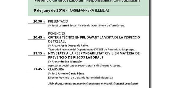 """Jornades Provincials de """"Prevenció de riscos laborals i responsabilitat civil subsidiària"""""""